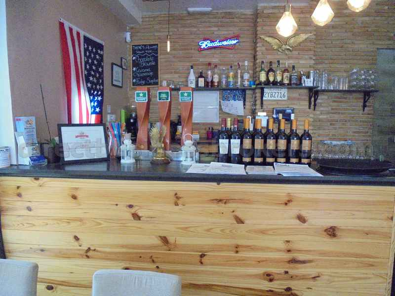 American Themed BBQ Bar Restaurant Busy Commercial Centre
